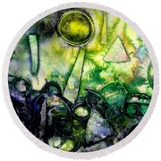 Abstract Landscape IIi Round Beach Towel