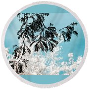 Abstract Locust Round Beach Towel