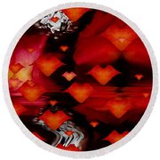 Abstract Love Round Beach Towel