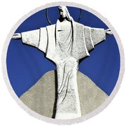 Abstract Lutheran Cross 5 Round Beach Towel