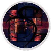 Abstract Me Round Beach Towel