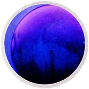 Abstract Metal Ball Round Beach Towel