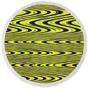 Abstract Metal Plate Round Beach Towel