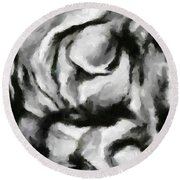 Abstract Monochome 150 Round Beach Towel