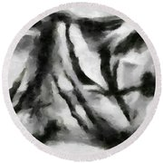 Abstract Monochome 158 Round Beach Towel