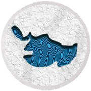 Abstract Monster Cut-out Series - Blue Swimmer Round Beach Towel