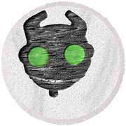 Abstract Monster Cut-out Series - Ferko Round Beach Towel