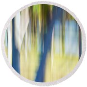 Abstract Moving Trees 30 Round Beach Towel