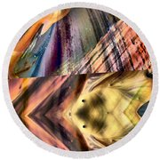 Abstract Nito An Abstract Round Beach Towel