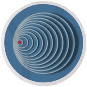 Abstract No 20 Round Beach Towel