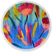 Abstract No. 3 Round Beach Towel