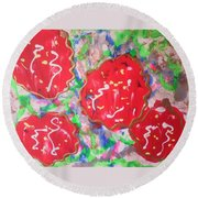 Abstract Nr 49 Round Beach Towel