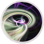 Abstract Number 13 Round Beach Towel