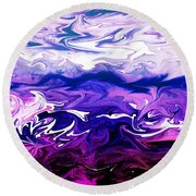 Abstract Ocean Fantasy One Round Beach Towel