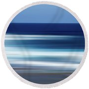 Abstract Ocean Waves Round Beach Towel