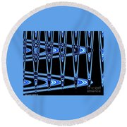 Abstract Of Blue Clock Works Round Beach Towel