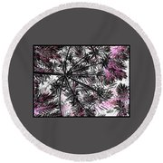 Abstract Of Ever Green Bush Round Beach Towel