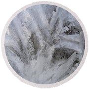 Abstract Of Ice Round Beach Towel
