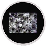Abstract Of Low Growing Evergreen Shrub Round Beach Towel