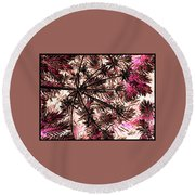 Abstract Of Low Growing Shrub  Round Beach Towel