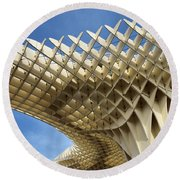 Abstract Of Metropol Parasol Pod At Plaza Of The Incarnation Sev Round Beach Towel