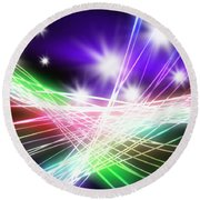 Abstract Of Stage Concert Lighting Round Beach Towel