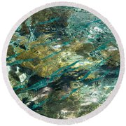 Abstract Of The Underwater World. Production By Nature Round Beach Towel