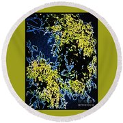Abstract Of Tree And Leaves Round Beach Towel