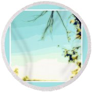 Abstract  Of Trees And Sky Round Beach Towel
