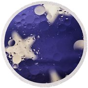 Abstract Oil And Water 2 Round Beach Towel