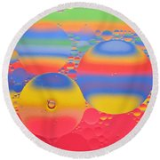 Abstract Oil And Water 7 Round Beach Towel