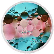 Abstract Oil And Water Round Beach Towel