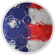 Abstract Oil And Water Usa 2 Round Beach Towel