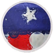 Abstract Stars And Stripes Round Beach Towel