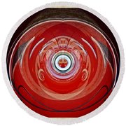 Abstract Old Car Framed Round Beach Towel