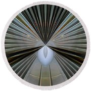 Abstract Old Car Vent Round Beach Towel