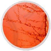 Abstract Orange Round Beach Towel