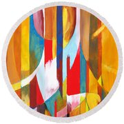 Abstract Painting Round Beach Towel