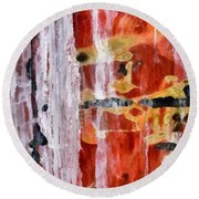 Abstract Painting Untitled #45 Round Beach Towel