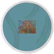 Abstract Pallet Oil Color Round Beach Towel