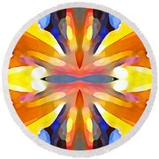 Abstract Paradise Round Beach Towel