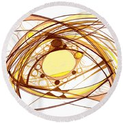 Abstract Pen Drawing Eleven Round Beach Towel