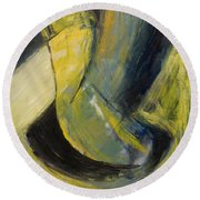 Abstract Pendulum Round Beach Towel