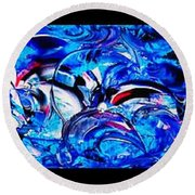 Abstract Perfection  12 Round Beach Towel