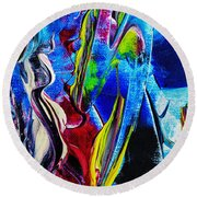 Abstract Perfection Round Beach Towel