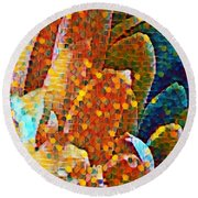 Abstract Petals Round Beach Towel