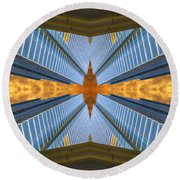 Abstract Photomontage N131v1 Dsc0965  Round Beach Towel