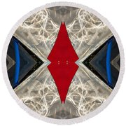 Abstract Photomontage N41p4f175 Dsc7221 Round Beach Towel