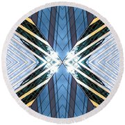 Abstract Photomontage N87v1 Dsc9063 Round Beach Towel