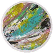 Abstract Piano 1 Round Beach Towel